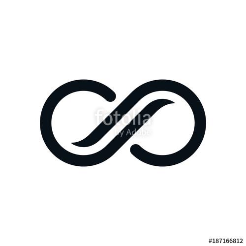 500x500 Monochrome Curvy Infinity Symbol Stock Image And Royalty Free