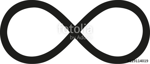 500x215 Thin Infinity Sign Stock Image And Royalty Free Vector Files On