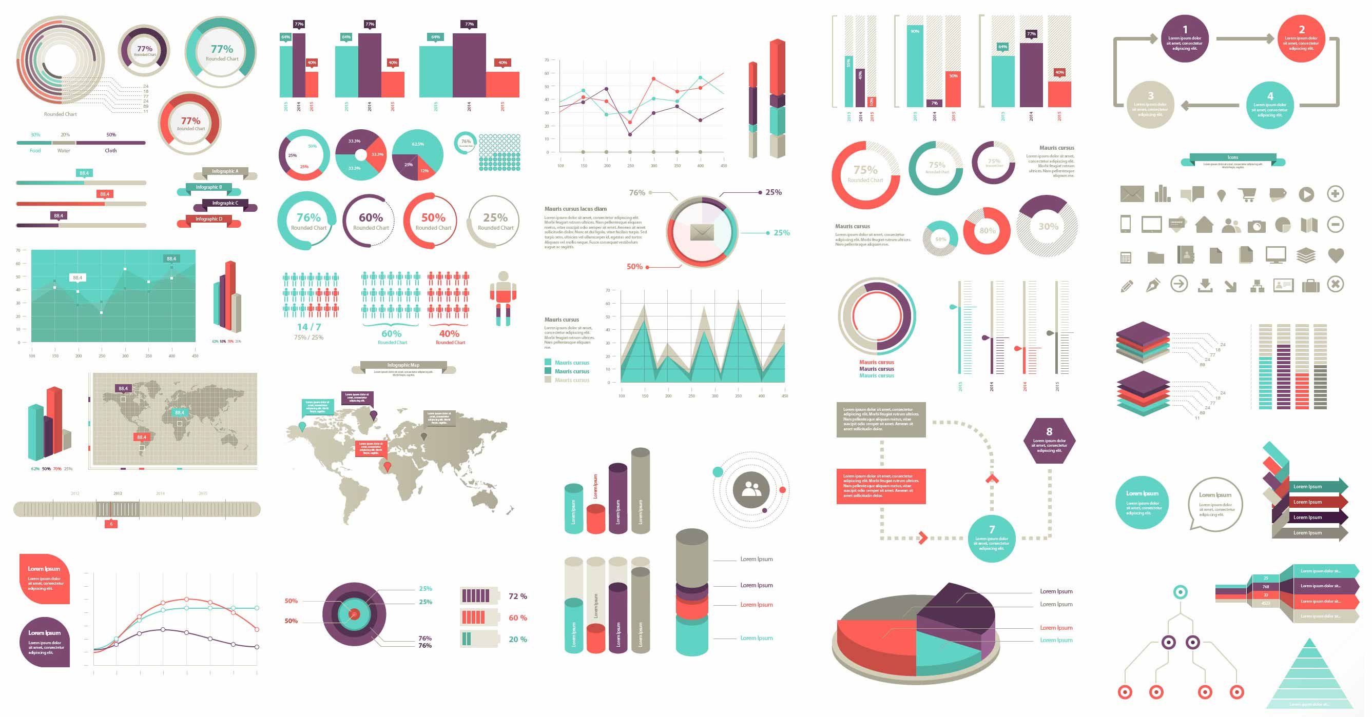 2673x1398 Infographic Elements (Vector)
