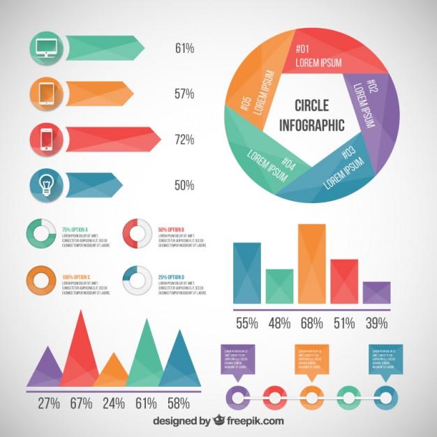 626x626 Colored Infographic Elements Vector Premium Download