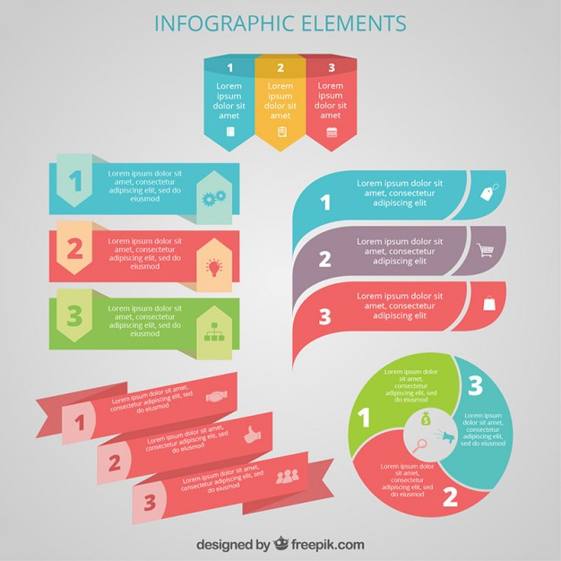 626x626 Colorful Infographic Elements Vector Free Download
