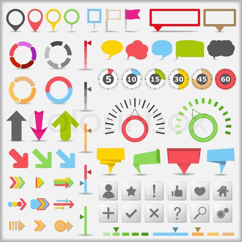 800x800 Infographic Elements Stock Vector Colourbox