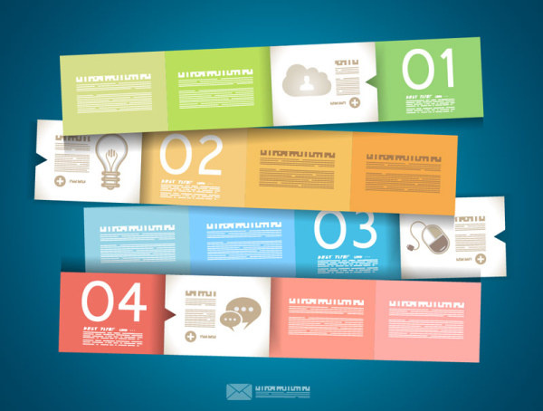 600x454 Numbered Infographics Elements Vector Free Vector In Encapsulated