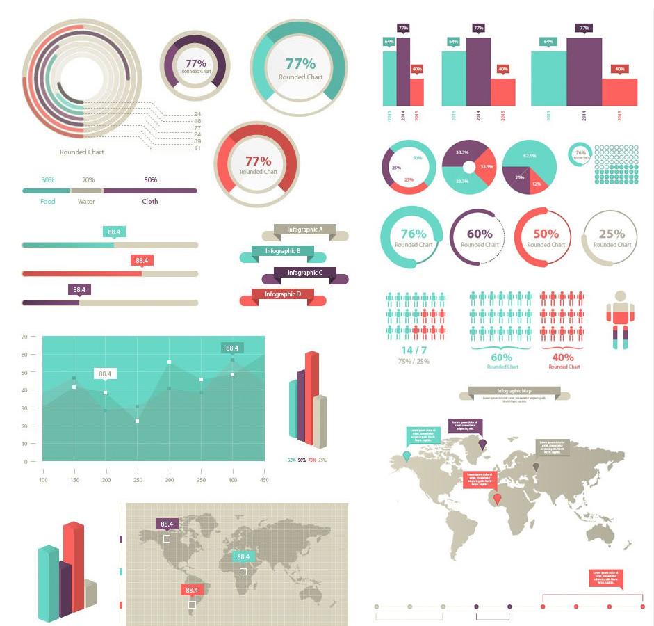 941x900 Infographic Vector Elements