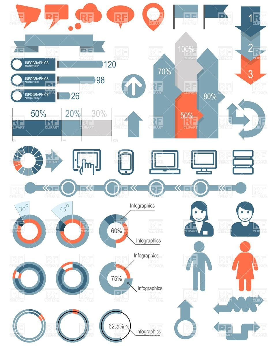 960x1200 Set Of Infographic Elements And Icons Vector Image Vector