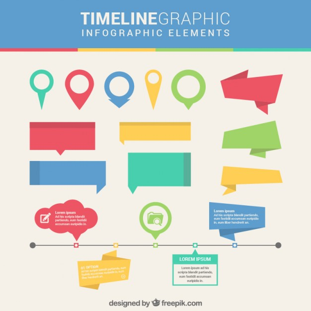 626x626 Timeline Infographic Elements Vector Free Download