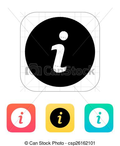 385x470 Information Icon. Vector Illustration.