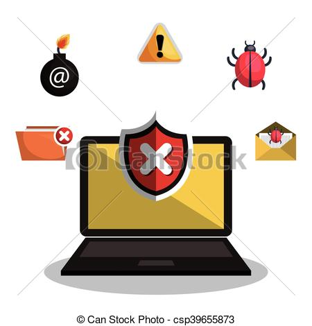 450x470 Internet Security Information Icon Vector Illustration Design.