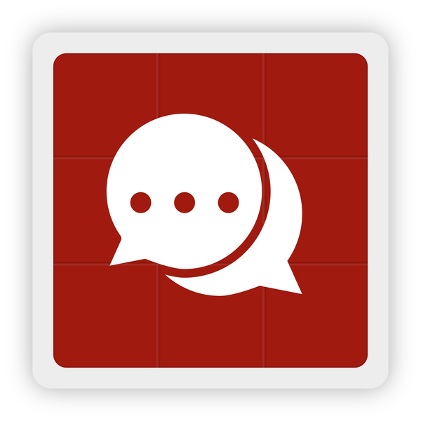 600x600 Chat Information Icon Vector Free Download