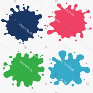 300x300 Paint Splat Set Ink Drop Vector Arenawp