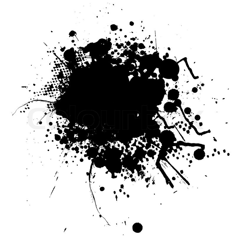800x800 Ink Splat Mono With Room To Add Your Own Text Stock Vector