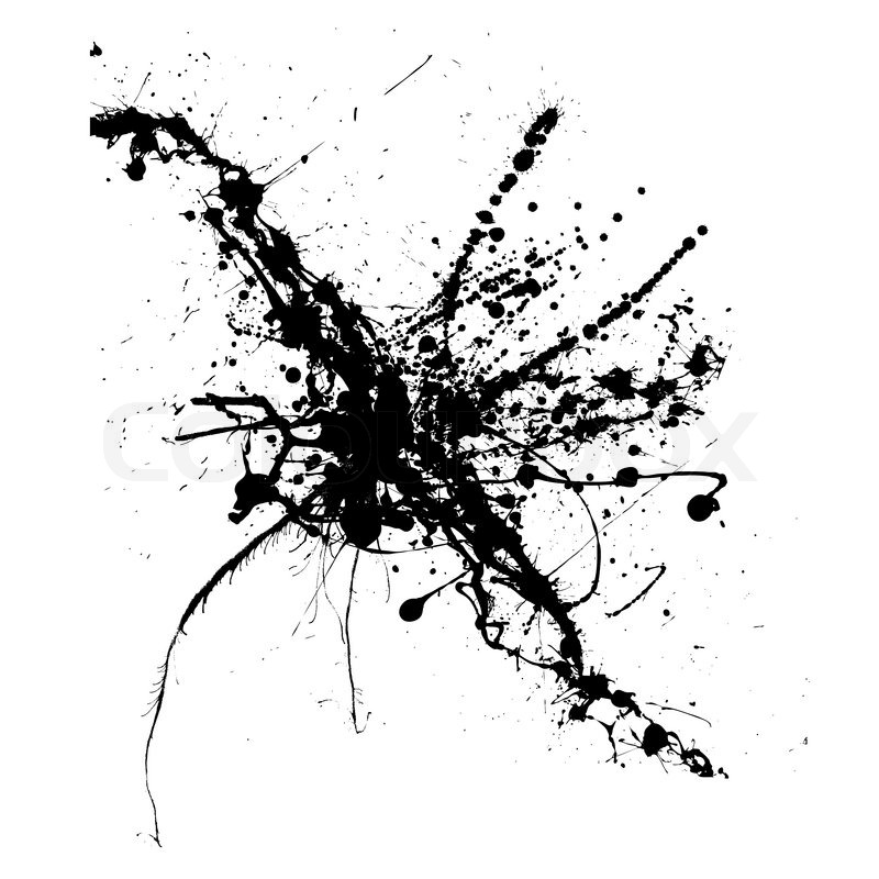 800x800 Ink Splatter On A White Background Isolated Illustration Stock