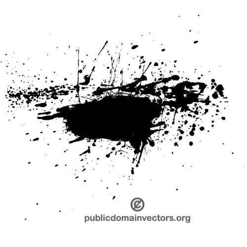 500x500 Ink Splatter Vector Element Public Domain Vectors