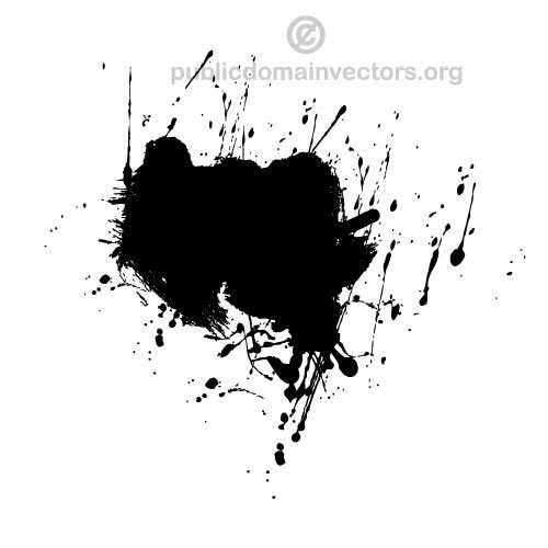 500x500 Paint Ink Splatter Vector Graphics Public Domain Vectors