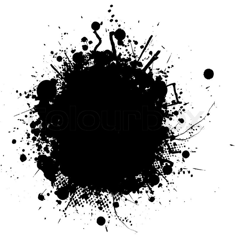 800x800 Abstract Illustration Of An Ink Splat In Black And White Stock