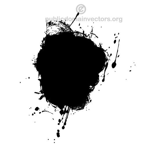 500x500 Black Ink Splatter Vector Graphics Public Domain Vectors