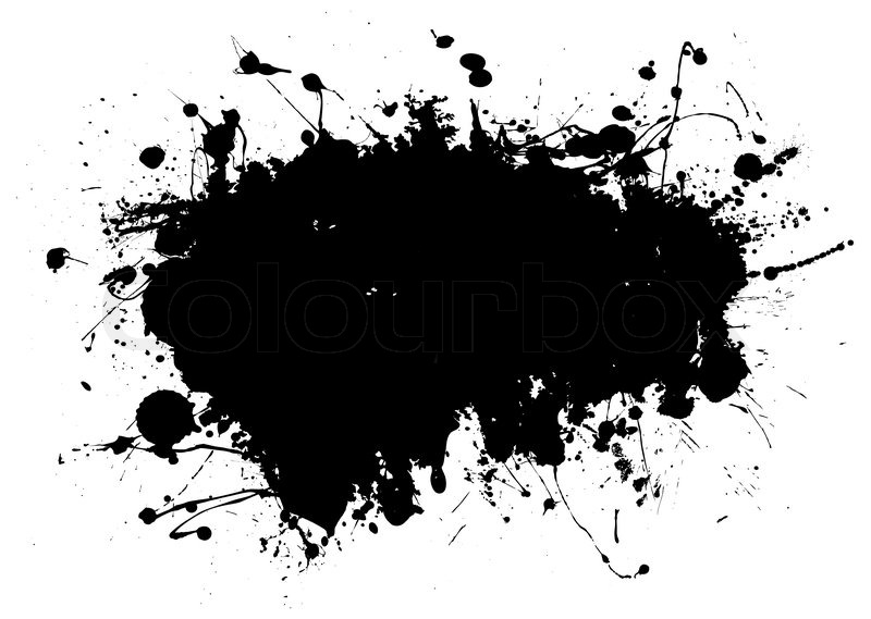 800x569 Black Ink Splat Design With Room To Add Your Own Text Stock