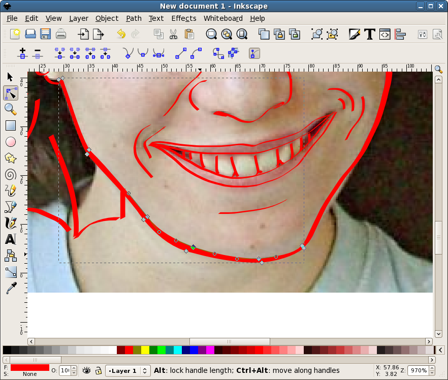 882x748 Make A Vector Face In Inkscape Inkscape Face