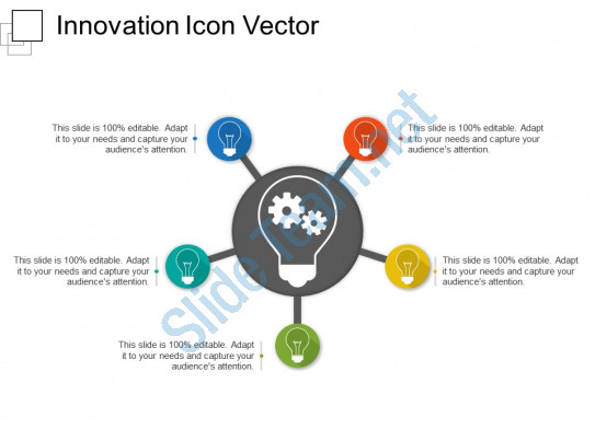 543x403 Innovation Icon Vector Powerpoint Slide Template Presentation