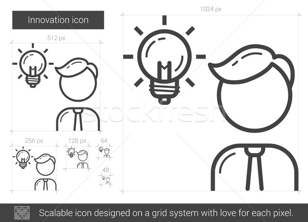 600x432 Innovation Line Icon. Vector Illustration Andrei Krauchuk