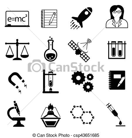 450x470 Science, Innovation And Discovery Icons. Science, Scientific