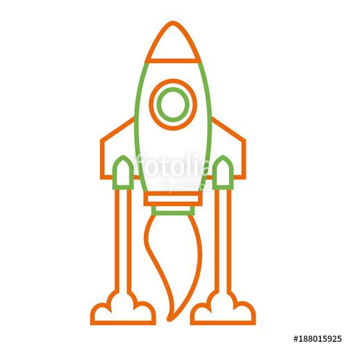 500x500 Rocket Launch Start Innovation Icon Vector Illustration Stock