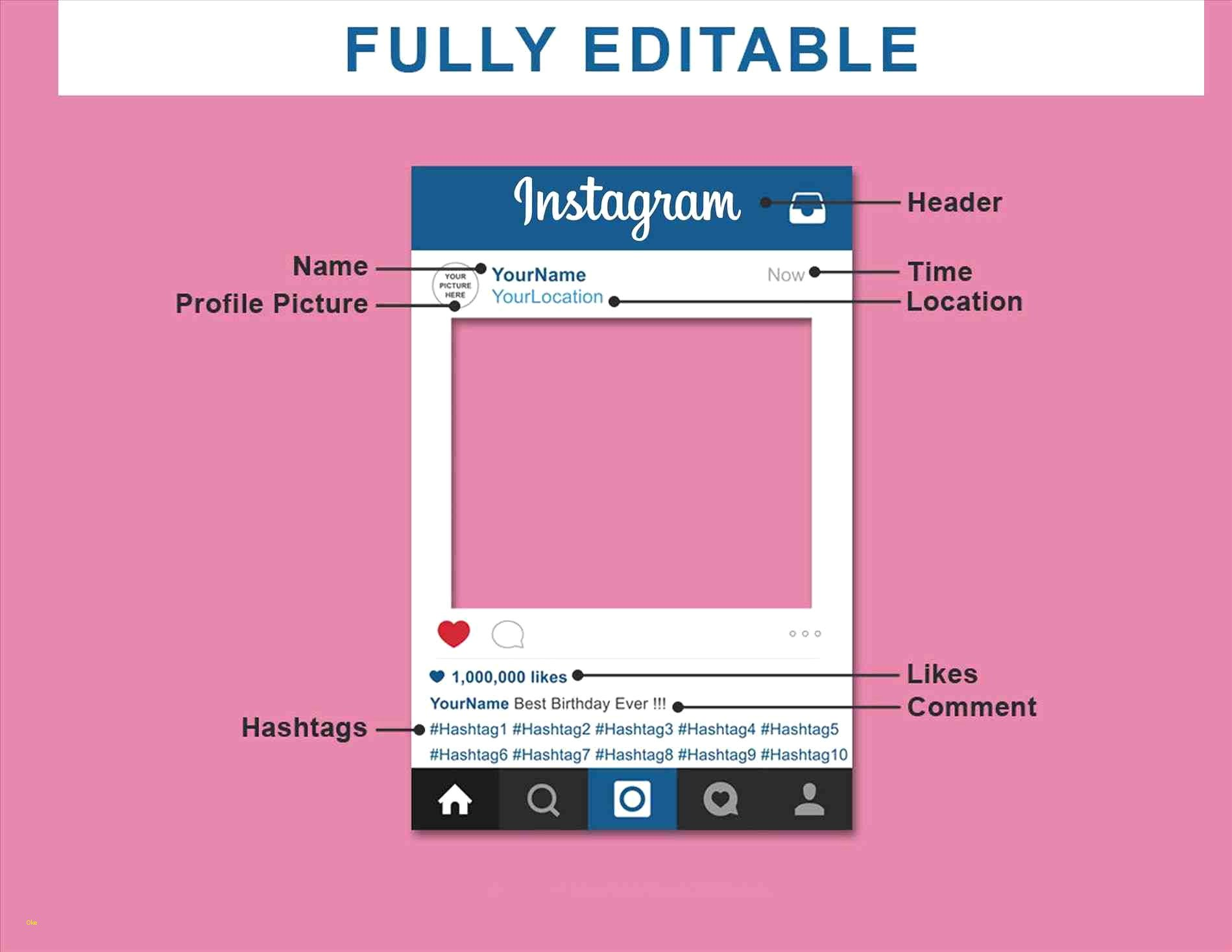 1899x1468 Instagram Frame Vector Template Framesite.blog