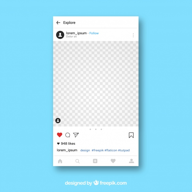 626x626 Instagram App Template Vector Free Download