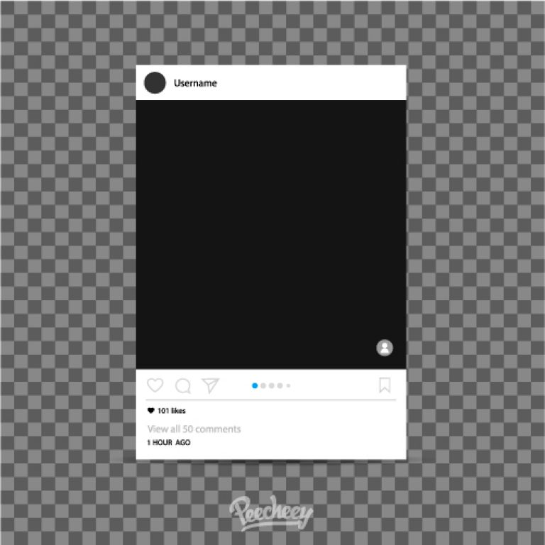 768x768 Instagram Photo Frame Template