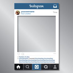 236x236 Free Instagram Frame Party Template In Photoshop And Powerpoint
