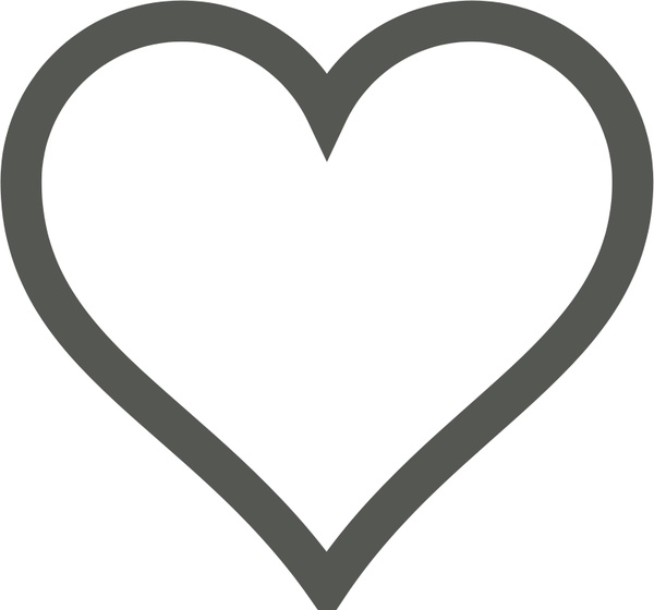 600x560 Heart Icon Vector