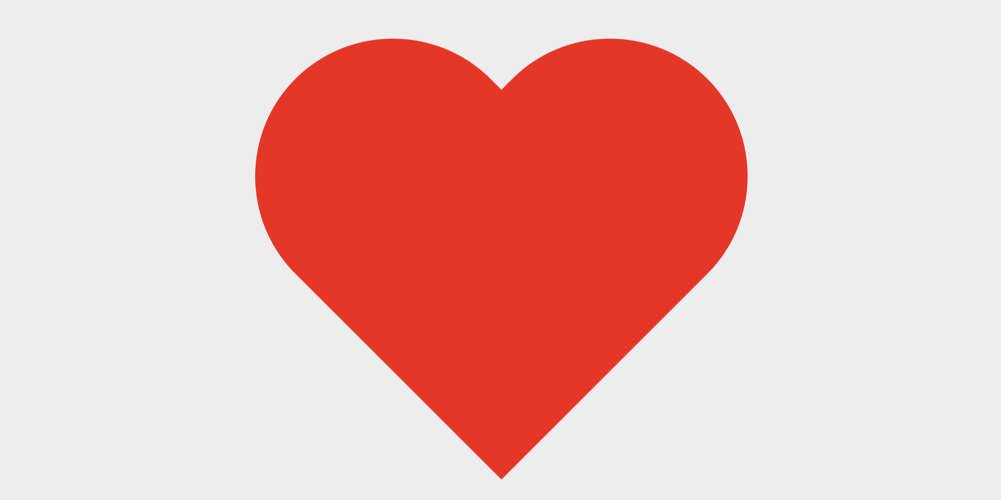 2000x1000 Instagram Heart Icon Vector