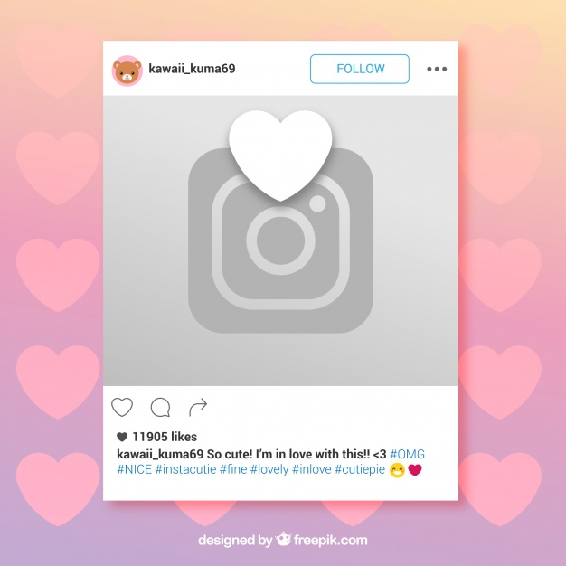 626x626 Instagram Frame With Heart And Camera Vector Free Download