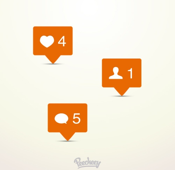 600x585 Instagram Notification Icons Free Vector In Adobe Illustrator Ai