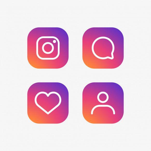 626x626 Instagram Icons Set Free Vector Freebies Icon Set