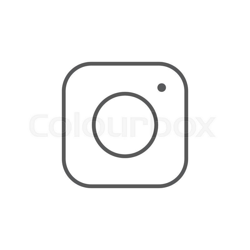 800x800 Social Media Icon, Instagram Icon, Instagram Vector Icon Stock