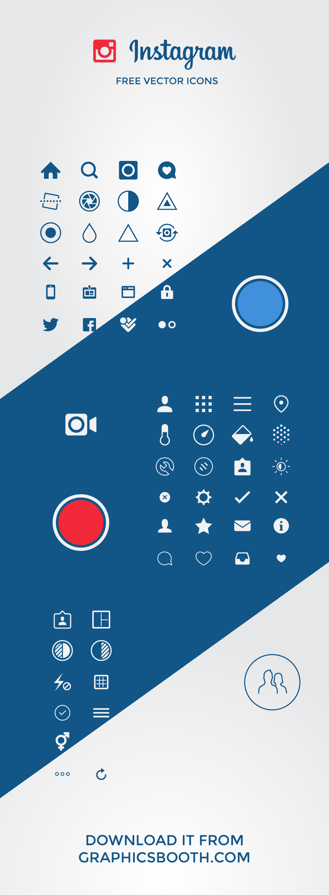 1052x2859 Free Instagram Vector Icons On Behance