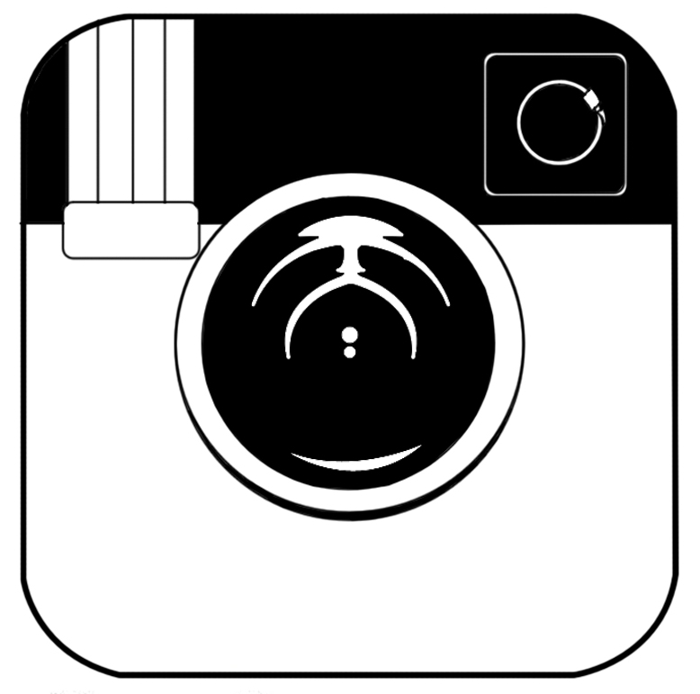 778x771 Black And White Instagram Logos