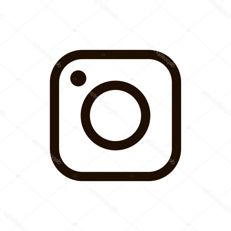 1228x1228 Stock Illustration New Instagram Logo Black Color Arenawp