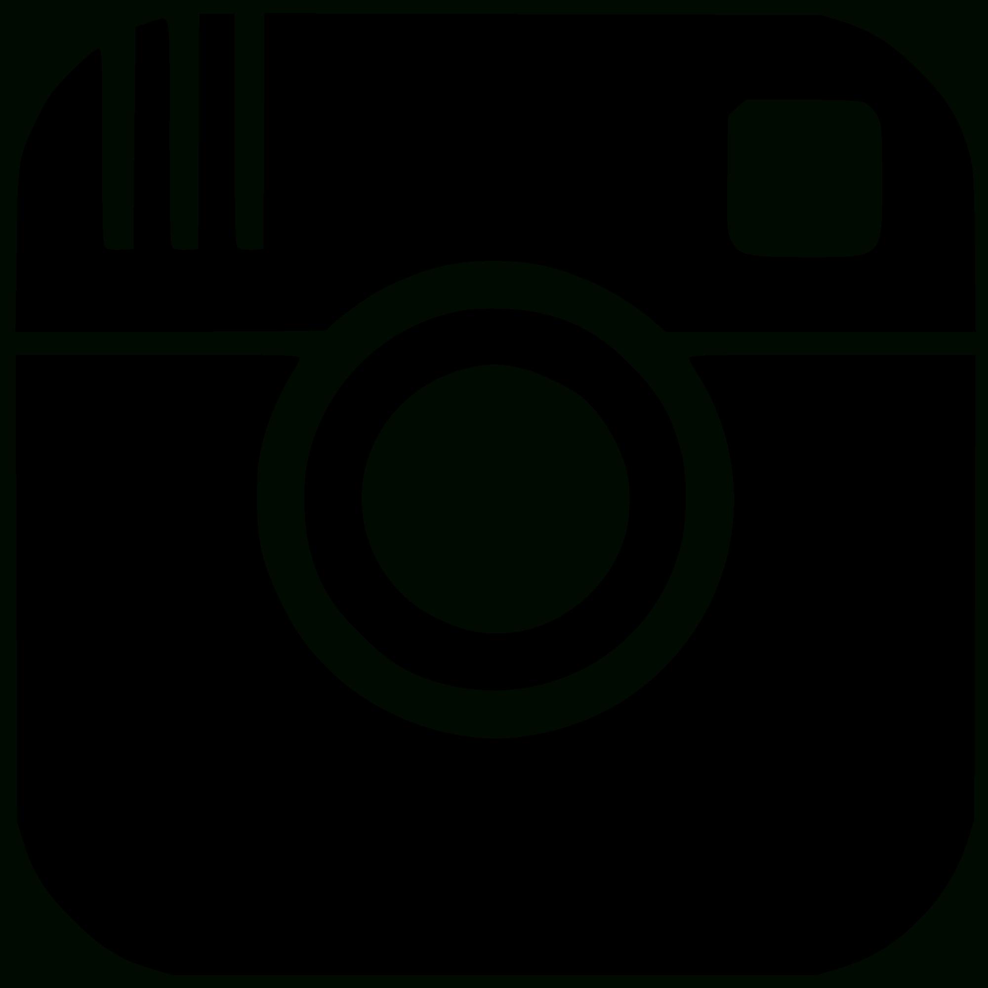 2000x2000 Instagram Logo Black And White Vector Free Design Templates