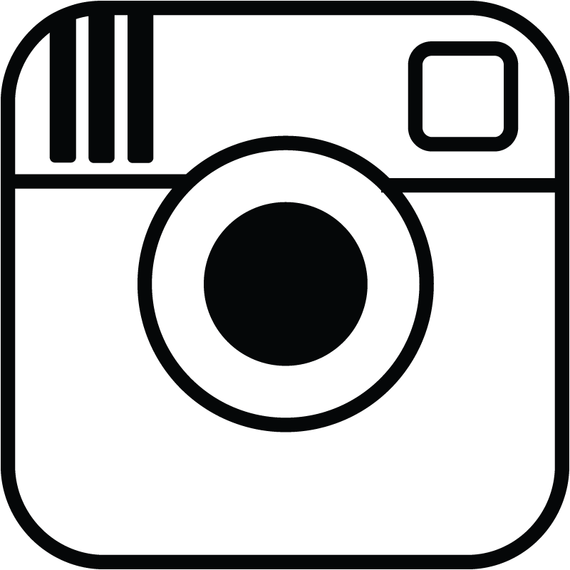 800x800 Black And White Instagram Logos