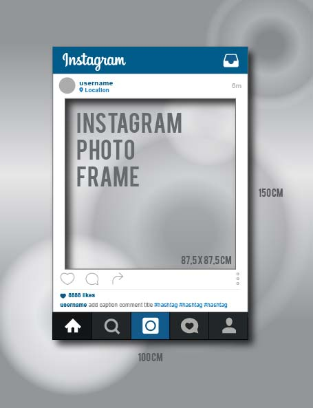 Instagram Template Vector