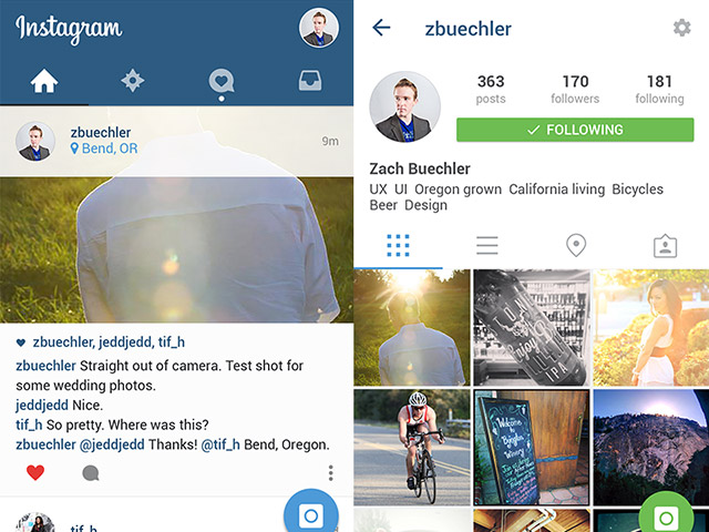 640x480 Free Download Instagram Ui Material Design Psd