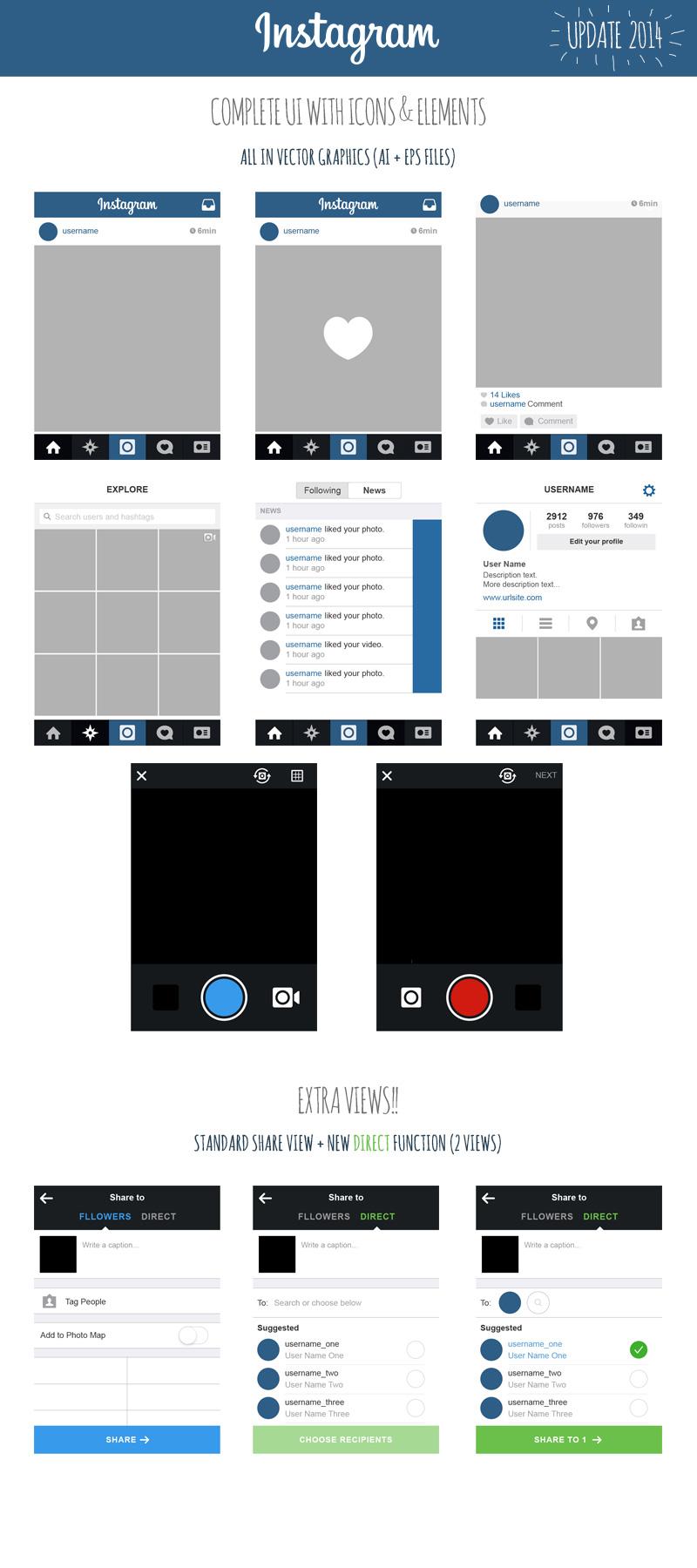 800x1800 Instagram User Interface