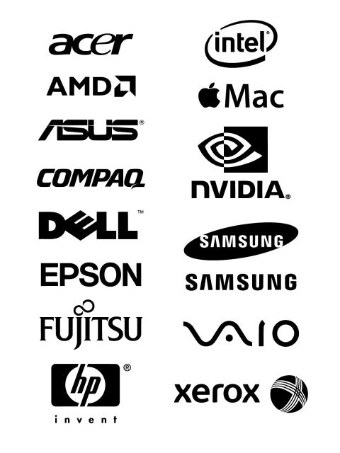 480x640 Free Logo Vector Brands Acer, Intel, Amd, Apple Mac, Asus, Compaq