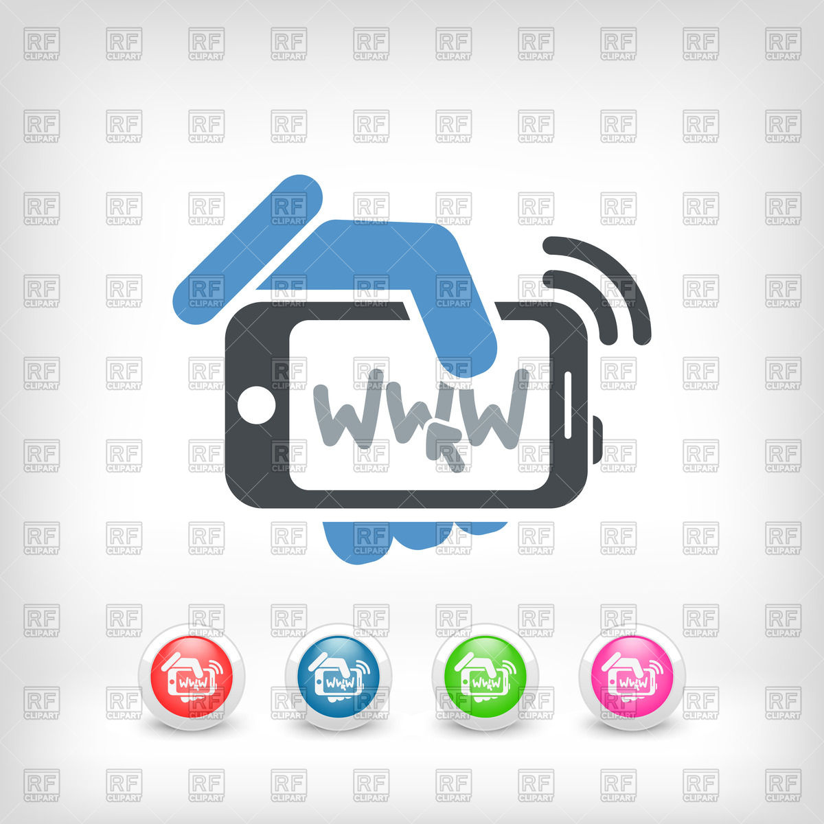 1200x1200 Internet Connection On Smartphone Icon Vector Image Vector