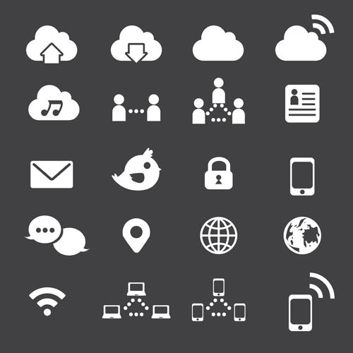 500x500 Internet Icon Vector Set Free Download