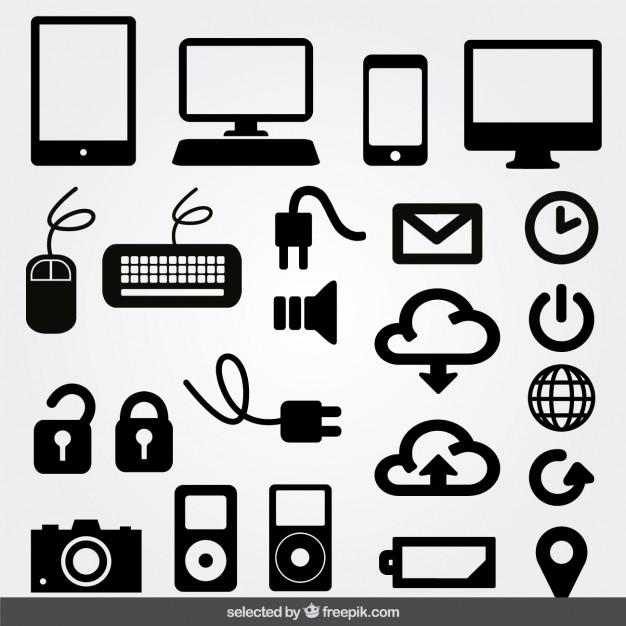 626x626 Internet Monochrome Icons Set Vector Free Download