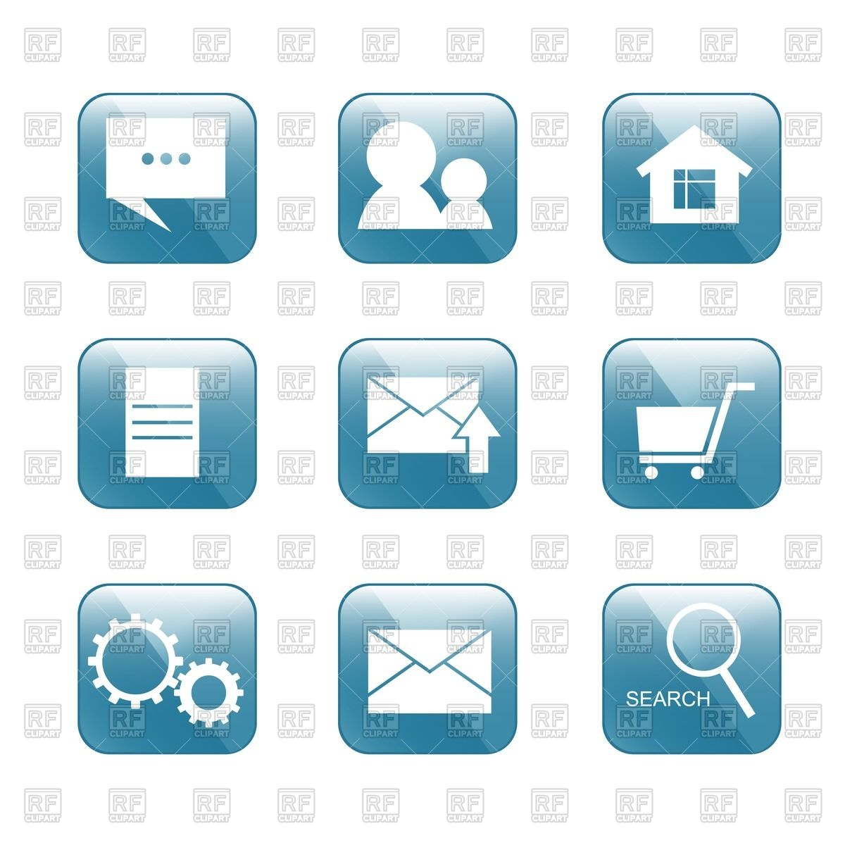 1200x1200 Internet Shop Square Icons Vector Image Vector Artwork Of Icons