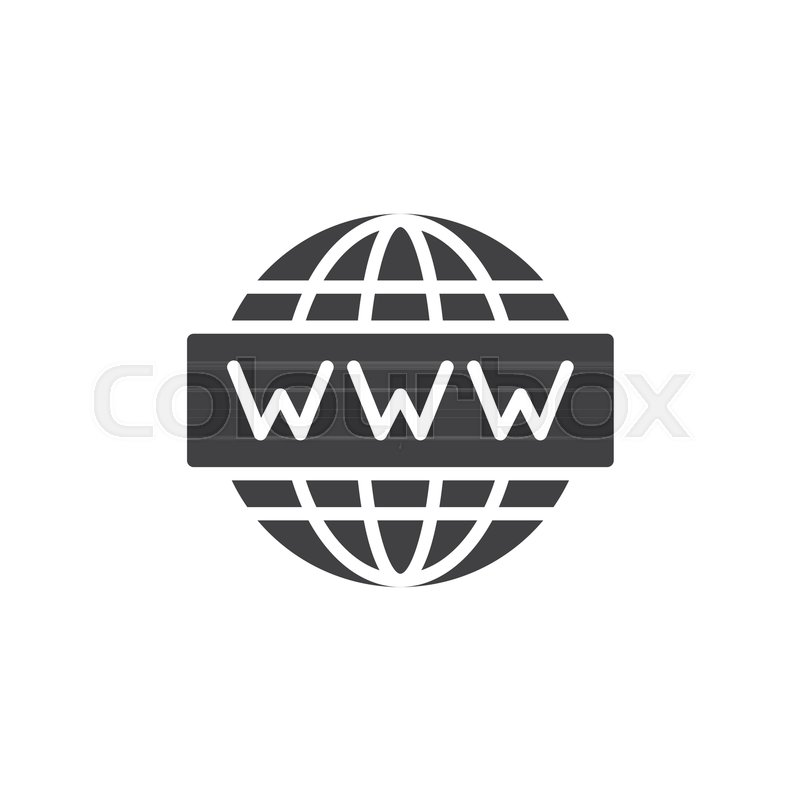 800x800 Www Website Icon Vector, Filled Flat Sign, Solid Pictogram
